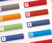 Pacote com 26 ícones de redes sociais